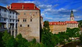 Château de Krumlov de ½ d'Äeskà Images libres de droits