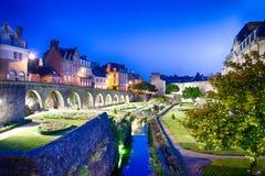 Château de l'Hermine i Vannes, Frankrike Arkivfoto