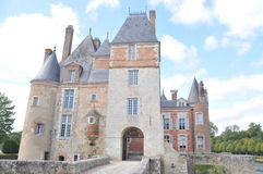Château De La Bussière. This beautiful castle is one castle located in the beautiful Loire valley region of France. Fishing related items are Stock Photography