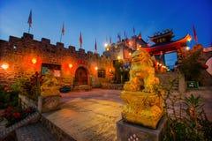 Château de la Chine au crépuscule Photos libres de droits