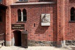 Château de la commande Teutonic dans Malbork Images libres de droits