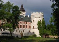 Château de la Renaissance dans Krasiczyn, voivodship de Podkarpackie, Pologne Photographie stock libre de droits