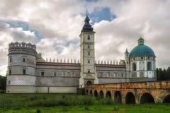 Château de la Renaissance dans Krasiczyn, voivodship de Podkarpackie, Pologne Images libres de droits