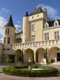 Château de La Rivière, Fronsac ( France ). View of La Rivière castle in Fronsac, Gironde, in summer Stock Photo