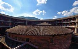 Château de la terre à l'intérieur de constrution, au sud de la Chine Photographie stock libre de droits