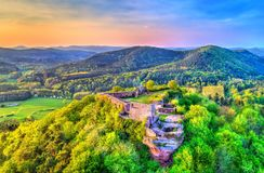 Château de Lindelbrunn au Palatinat Forest Rhineland-Palatinate, Allemagne photos stock