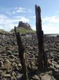 Château de Lindisfarne, île sainte photos stock