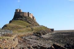 Château de Lindisfarne, île sainte le Northumberland R-U photos libres de droits