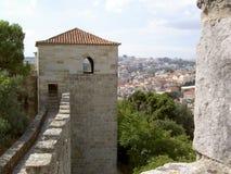 Château de Lisbonne Photographie stock libre de droits