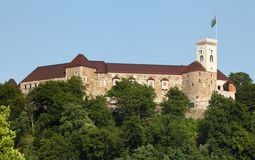 Château de Ljubljana, Slovénie, l'Europe Photos stock