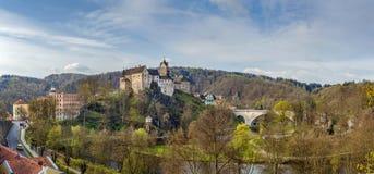 Château de Loket, République Tchèque Images libres de droits