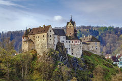 Château de Loket, République Tchèque Photos stock