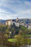 Château de Loket, République Tchèque Photo stock
