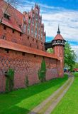 Château de Malbork à la province Pologne de Pomerania Photo stock