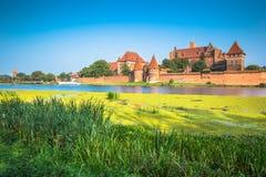 Château de Malbork dans la forteresse médiévale de la Pologne construite par le Teutonic Photographie stock