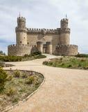 Château de Manzanares, Espagne Photographie stock libre de droits
