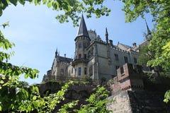 Château de Marienburg, Allemagne avec une frontière de feuille Photo libre de droits