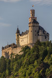 Château de Marksburg chez Braubach en vallée du Rhin, Allemagne - site de patrimoine mondial de l'UNESCO Photo libre de droits