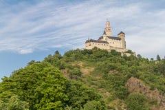 Château de Marksburg chez Braubach en vallée du Rhin, Allemagne - site de patrimoine mondial de l'UNESCO Photographie stock libre de droits