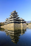 Château de Matsumoto, vue occidentale du sud. Photos libres de droits