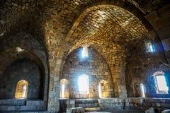 Château 11 de mer de croisés de Sidon image libre de droits