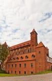 Château de Mewe (XIV C ) de l'ordre Teutonic Gniew, Pologne Image libre de droits