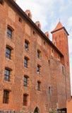 Château de Mewe (XIV C ) de l'ordre Teutonic Gniew, Pologne Photos libres de droits