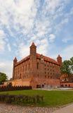 Château de Mewe (XIV C ) de l'ordre Teutonic Gniew, Pologne Images libres de droits