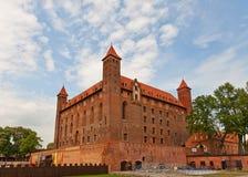 Château de Mewe (XIV C ) de l'ordre Teutonic Gniew, Pologne Photographie stock