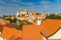 Château de Mikulov, Moravie du sud, République Tchèque Photos libres de droits