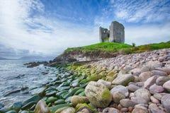 Château de Minard, comté Kerry Ireland Photo stock