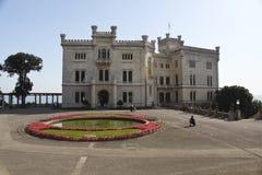 Château de Miramare, Trieste, Italie Images libres de droits