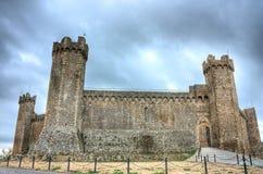 Château de Montalcino Photographie stock libre de droits