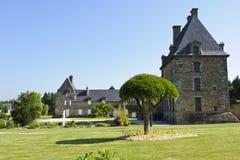 Château de Montgomery, Ducey, Normandie, France Images libres de droits