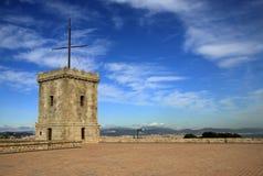 Château de Montjuic, Barcelone, Catalogne, Espagne Images libres de droits