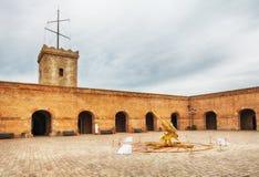 Château de Montjuic, Barcelone, Espagne images libres de droits