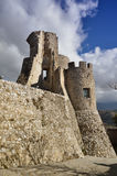 Château de Morano Calabro, parc national de Pollino, Italie images stock