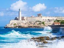 Château de morro d'EL à La Havane Photographie stock libre de droits
