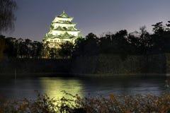 Château de Nagoya la nuit, Japon Image libre de droits