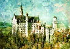 Château de Neuschwanstein illustration libre de droits