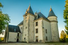 Château de Nieul Images stock