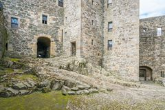 Château de noirceur, près du village omonimous dans le secteur de conseil de Falkirk, l'Ecosse photographie stock
