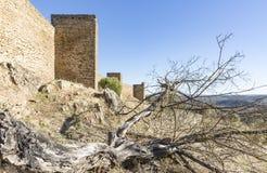 Château de Noudar, Barrancos, secteur de Beja, Portugal Image stock