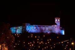 Château de nuit Photo stock