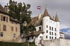 Château De Nyon sur le Lac Léman Photo libre de droits