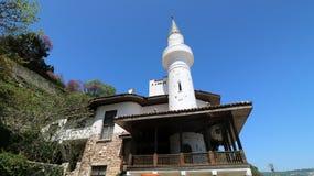 Château de palais de résidence de Balchik de la Reine roumaine Marie - REGINA MARIA à la côte bulgare de la Mer Noire images stock
