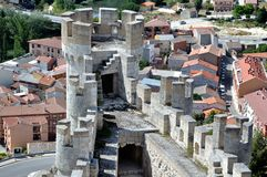 Château de Penafiel pris de l'intérieur Image libre de droits