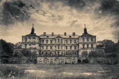 Château de Pidhirtsi, village Podgortsy, palais de la Renaissance, Lviv au sujet de Photo stock