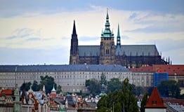 Château de Prague avec la cathédrale Image libre de droits