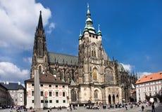 Château de Prague Cathédrale de St Vitus's images stock